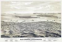 San Diego California Panoramic Map