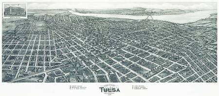 Tulsa Oklahoma Panoramic Map