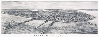 Atlantic City New Jersey Panoramic Map