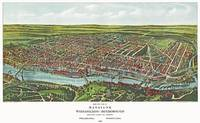 Philadelphia Pennsylvania Panoramic Map