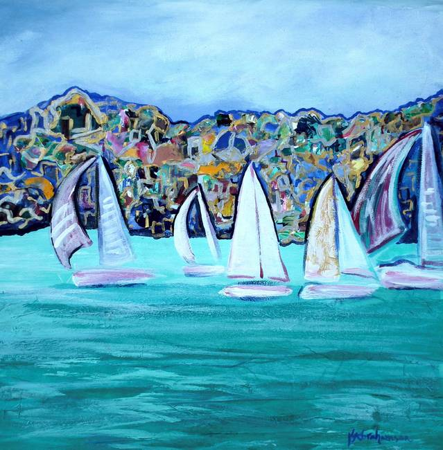 Sailboats in Marseille