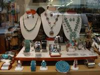 Window Display of Native American Jewelry
