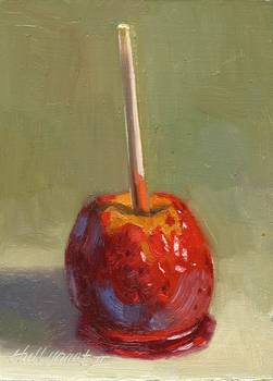 Candied Apple by artist Hall Groat II. Giclee prints, art prints, a still life, fine art print; from an original oil painting