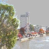 Schoen Place Canal Scene Art Prints & Posters by Don of Pittsford