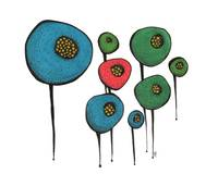 Abstract Lollipop Flowers
