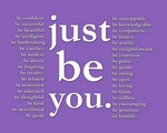 just be you (purple)