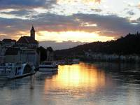 Sunset over the Danube at Passau
