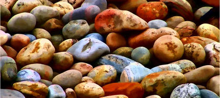 Colorful Shoreline Rocks