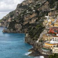 Positano Coastal Scenic Art Prints & Posters by George Oze