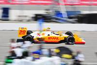 Ryan Hunter-Reay exiting pit road