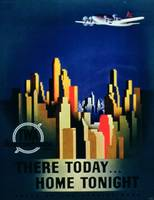 'There Today, Home Tonight', advertisement for TWA