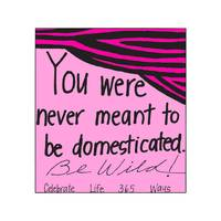 You Were Never Meant To Be Domesticated