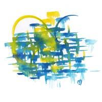 Atom Sea No12 by MARINA KANAVAKI