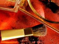 COMPACT & BRUSH COSMETICS STILL LIFE FINE ART PHOT