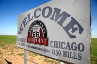 Route 66 - Midpoint Sign 2012