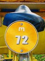 m72 YELLOW CIRCLE BIKE LICENSE URBAN STILL LIFE PH