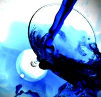 BLUE SPLASH BEVERAGE STILL LIFE PHOTOGRAPH BY NAWF