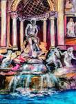 Trevi Fountain Rome Italy by Ginette