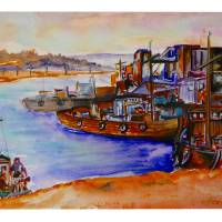 Inchon Harbor, Japan Art Prints & Posters by Kris Courtney