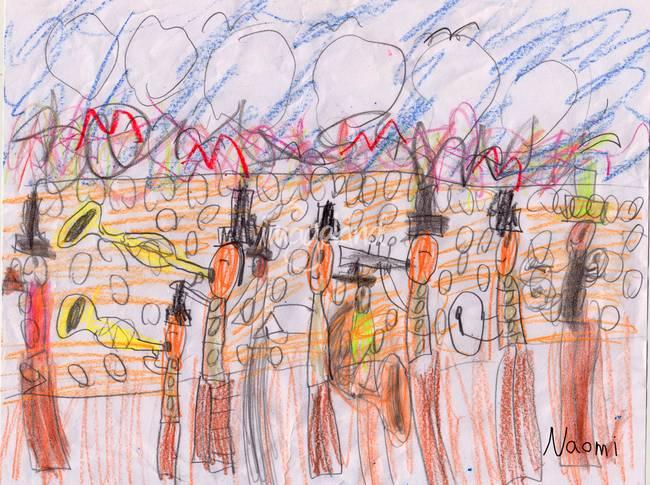Abstract Jazz Band Surrealism By Naomi O Brien