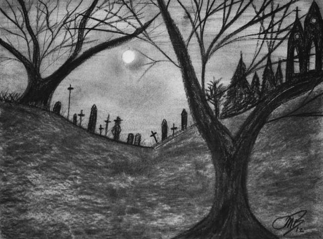 Stunning Quot Graveyard Quot Drawings And Illustrations For Sale