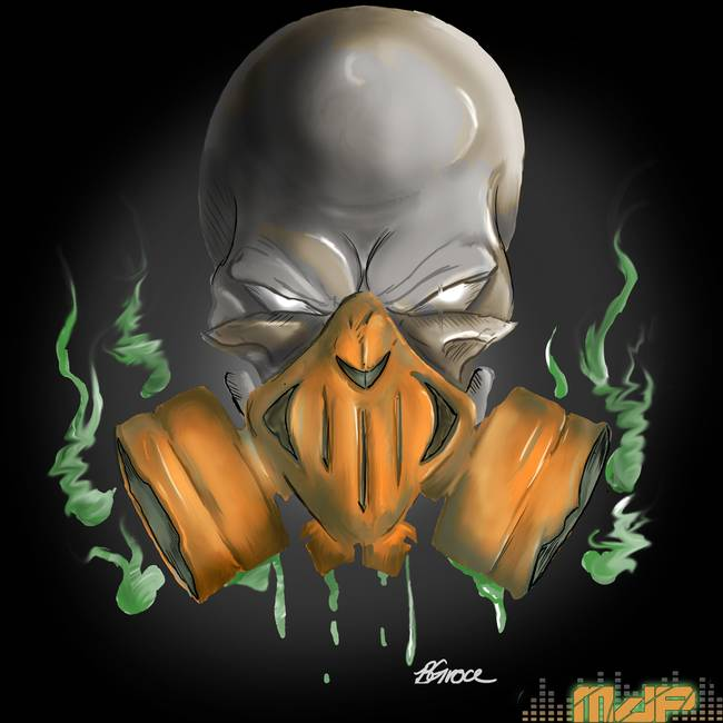 Skull Gas Mask By Brandon Groce