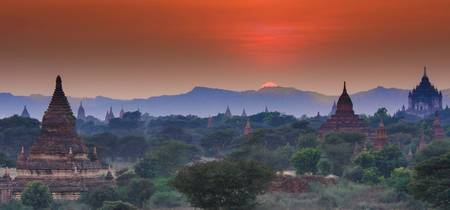 Sunset Over Bagan Temples #1