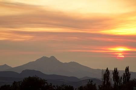 Longs Peak August Sunset