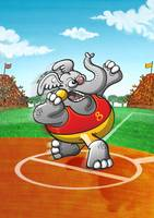 Olympic Shot Put Elephant
