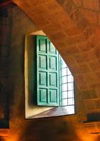 Monastery Window-Orange and green