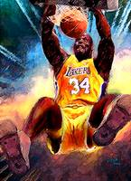 Shaq, Shaquille O'neal, Los Angeles Lakers Art