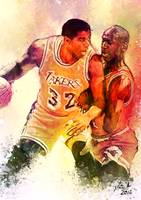 Magic Johnson Vs Michael Jordan, Lakers/Bulls NBA