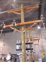 Warehouse Demo 3-phase cutout arrester pole