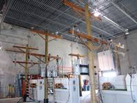 Warehouse View of Demo Transformer Poles