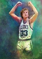 Larry Bird, Boston Celtics, NBA Art by E. L. Vela
