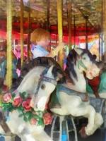 Little Boy on Carousel