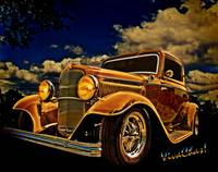 32 Ford Three Window Coupe and the Golden Hour