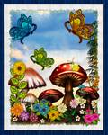Shroomvilla Summer Whimsical Fantasy Art