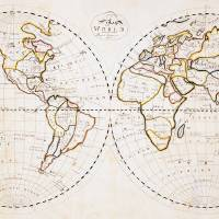 old world map Art Prints & Posters by J M