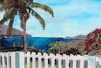 White Fence at English Harbour, Antigua, West Indi