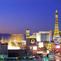 """Las Vegas Strip at Dusk"" by IK_Stores"