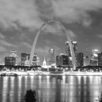 """St Louis (Black ; White)"" by IK_Stores"