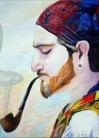 Gypsy With Pipe