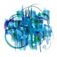 Atom Sea No19 by MARINA KANAVAKI