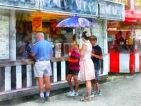 Buying Ice Cream at the Fair