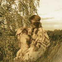Native American Mother with Child by I.M. Spadecaller