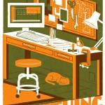 MAKE orange/olive Prints & Posters