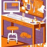 MAKE orange/lavender Prints & Posters