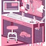 MAKE pink/purple Prints & Posters