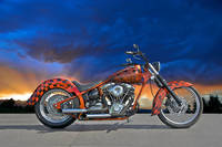 02 HD Custom Motorcycle